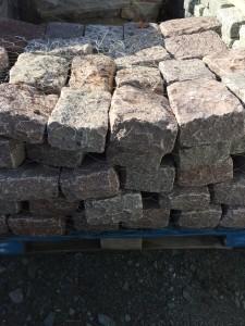 pink jumbo belgium blocks (5 inch x 9 inch x 11 inch)